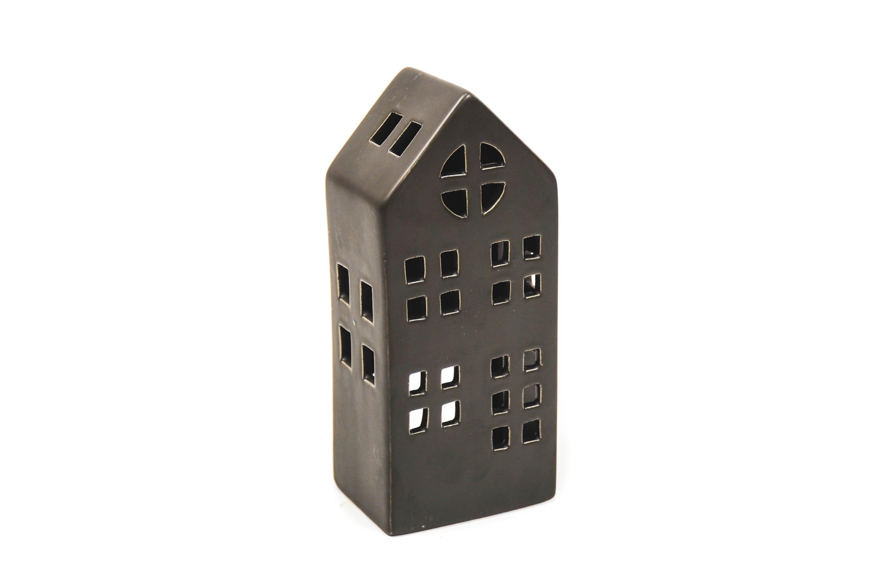 Keramikhaus schwarz M 8,5x6x20cm