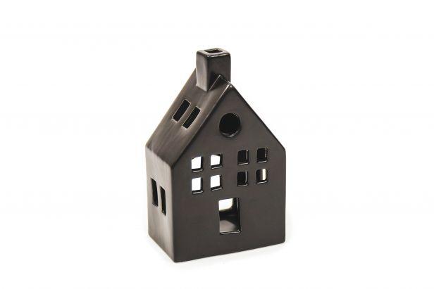 Keramikhaus schwarz Small 9x6x13cm
