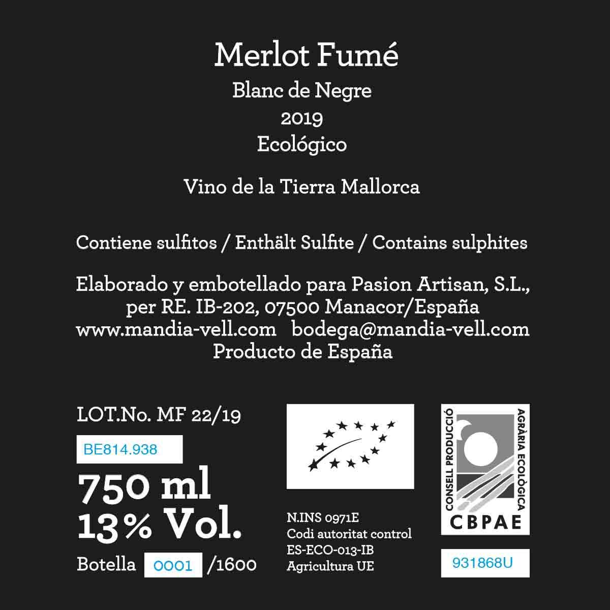Merlot Fumé 2019