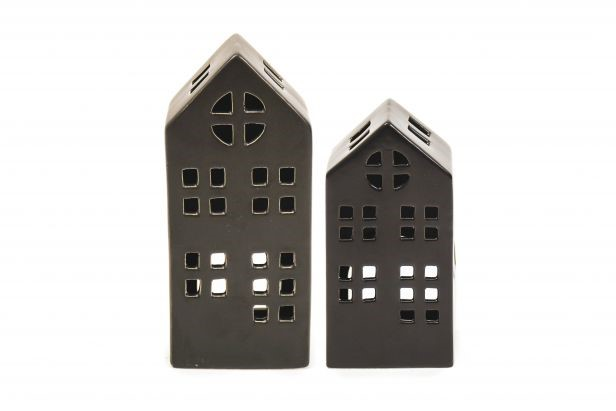 Keramikhaus schwarz Small 7x5,5x15,5cm
