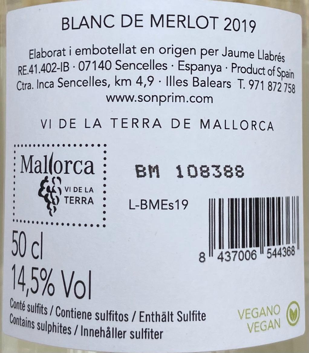 Blanc de Merlot 2019 Picknickflasche